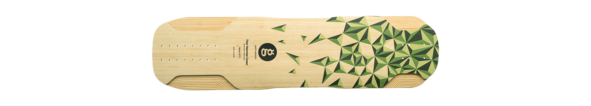 tabla longboard downhill freeride goat thor hammer green