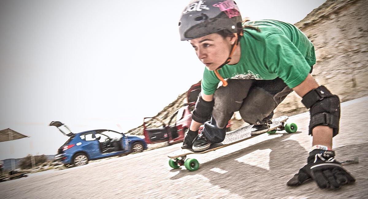 noelia otegui goat longboard team rider downhill competicion
