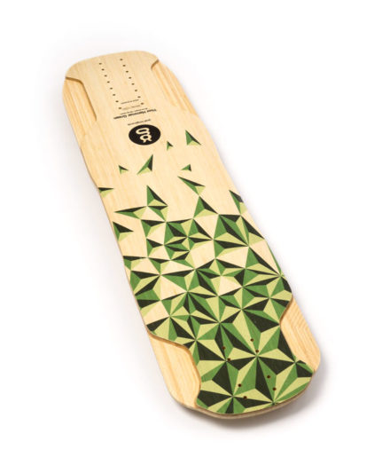downhill freeride longboard bamboo thor hammer green top goatlongboards
