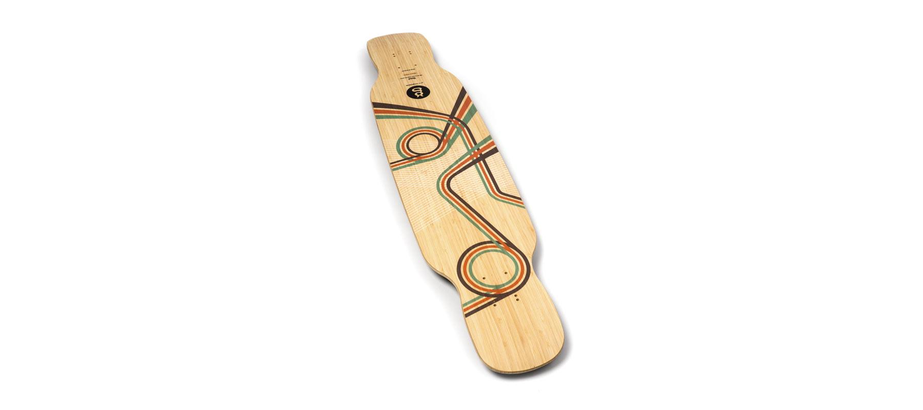 freestyle longboard bamboo soul grafico