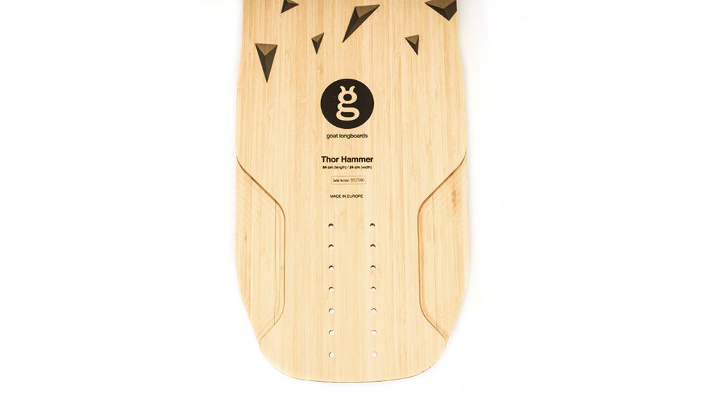 freeride montaje longboard bamboo thor hammer goatlongboards