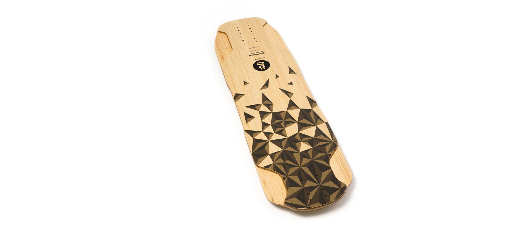 downhill longboard bamboo thor hammer grafico