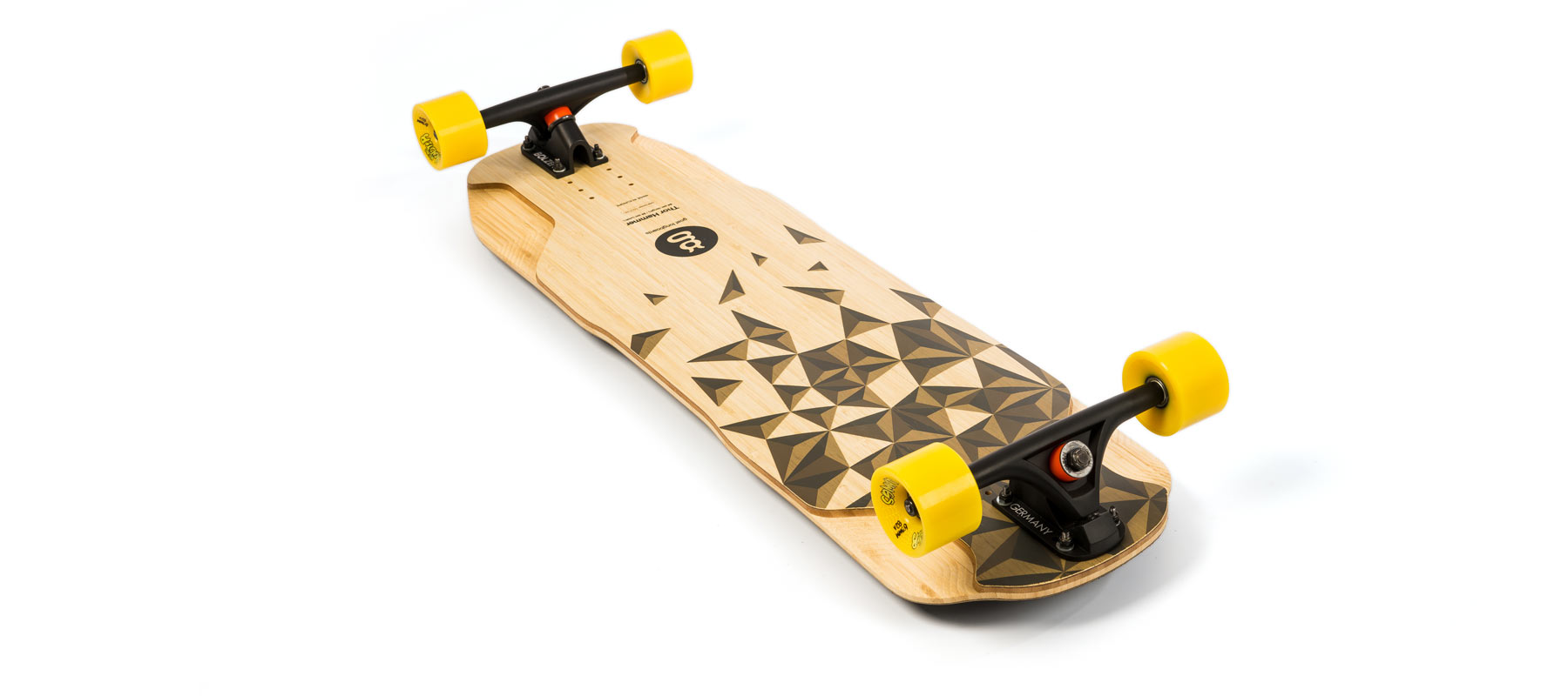 downhill longboard bamboo thor hammer grafico montada