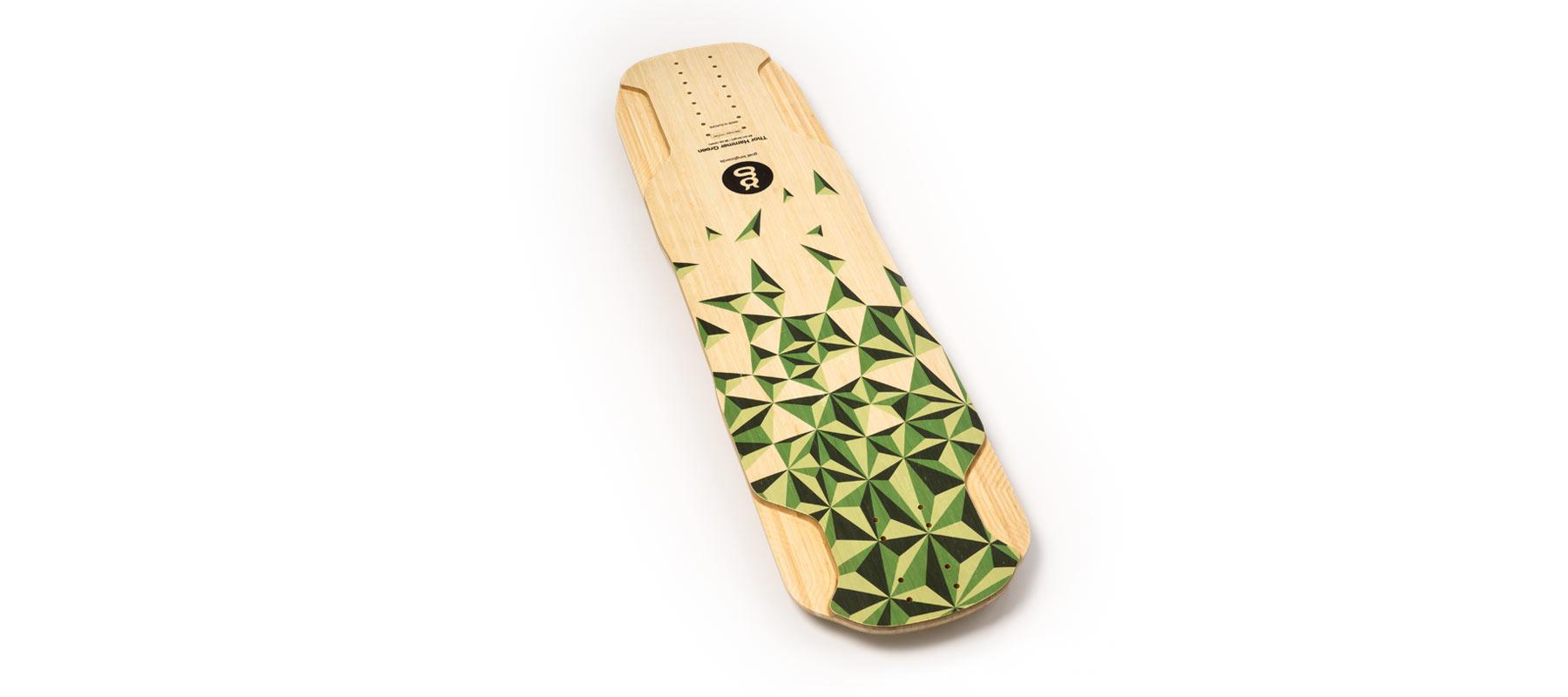 downhill longboard bamboo thor hammer green