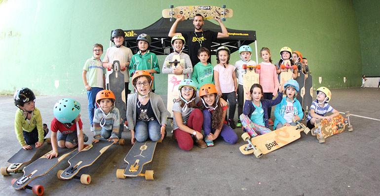 escuela de longboard school actividad del evento ibardin long fest 2017 organizado por goat longboards