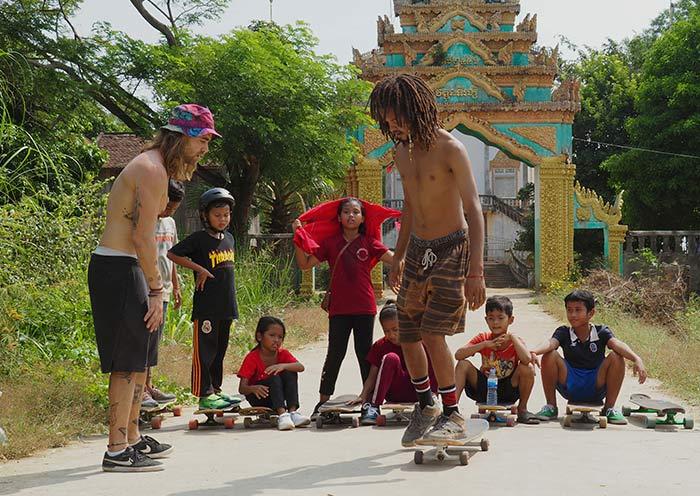 proyecto solidario de longboard en camboya